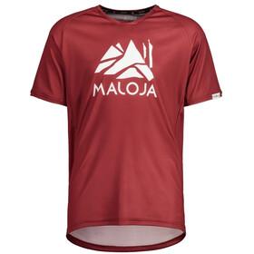 Maloja SanetschM. Multi 1/2 Shortsleeve Multisport Jersey Men, red monk